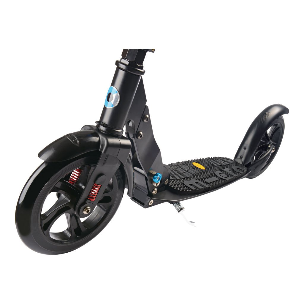 micro scooter black 200mm deluxe 269 99 kiddy bikes. Black Bedroom Furniture Sets. Home Design Ideas