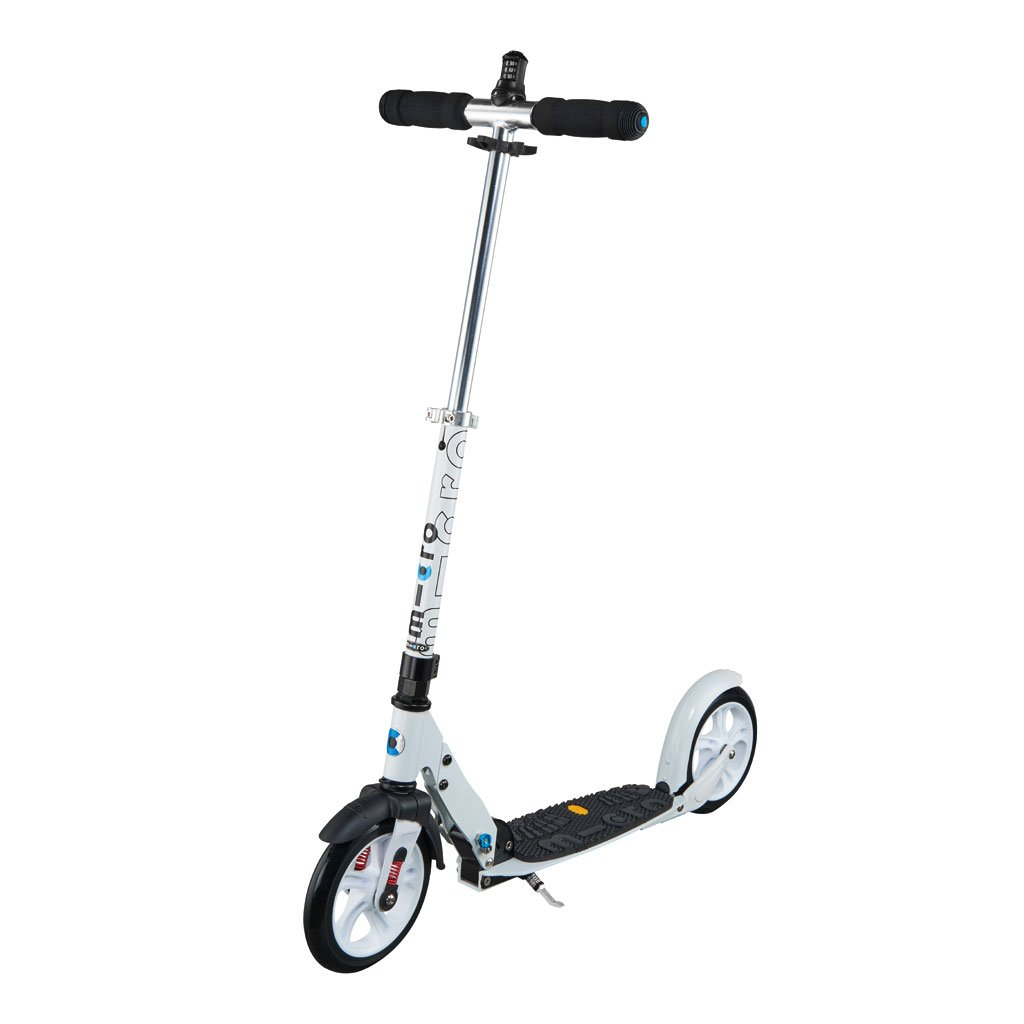 micro scooter white 200mm deluxe 269 99 kiddy bikes. Black Bedroom Furniture Sets. Home Design Ideas