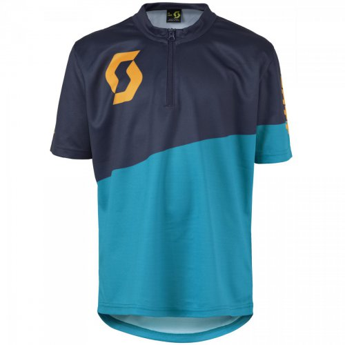 SCOTT Shirt Jr Progressive Pro s/sl hawaii blue/zinnia orange 2016