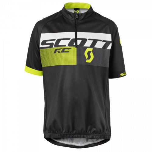 SCOTT Shirt Jr RC Pro s/sl black/sulphur yellow 152