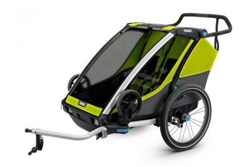 THULE Chariot Cab 2 chartreuse/dark shadow, Modell 2019 inkl. Licht